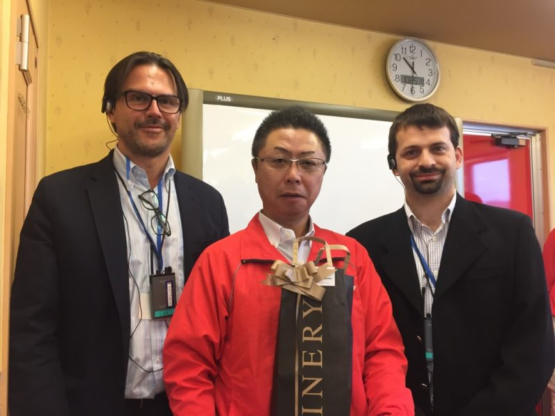 We both with Hamano corporation´s president in Japan.