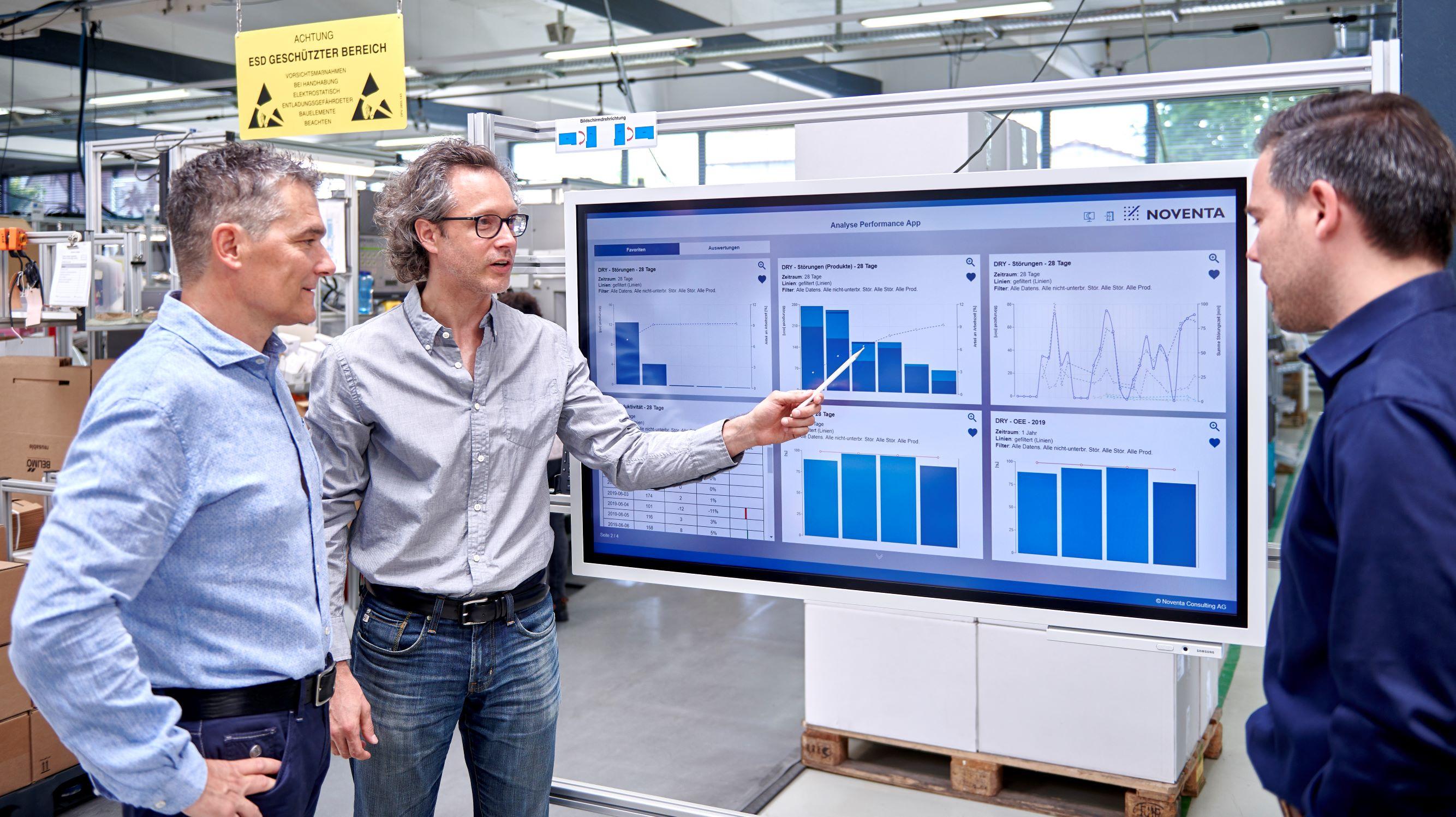 Datenauswertung-Verbesserung Produktion Schichtleiter Tool Echtzeit Prozessüberwachung