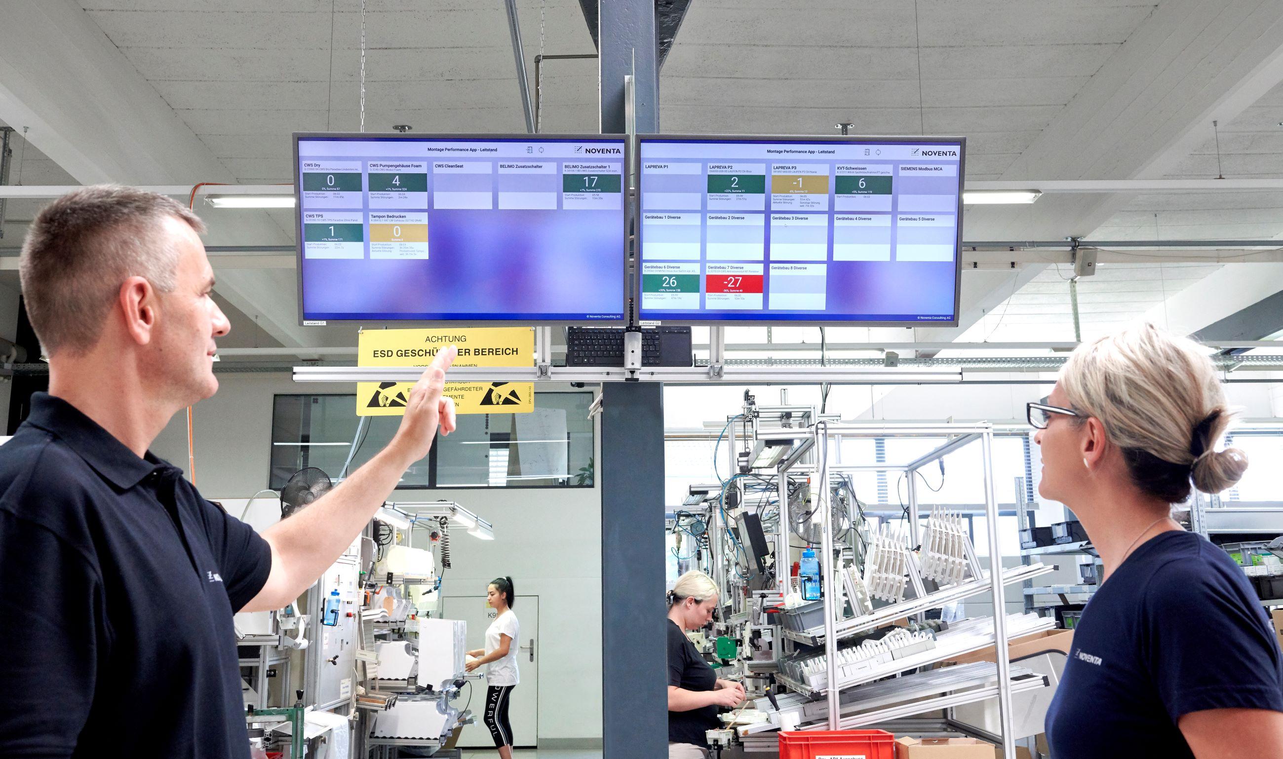 Datenauswertung Schichtleitung Übersicht Produktion Montage live realtime Industrie 4.0 Echtzeit Prozessüberwachung